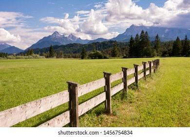 Pasture at the Karwendel mountains in Bavaria