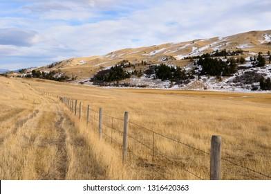 Pasture land at Bozeman Pass on Old Boseman Hill Road Montana