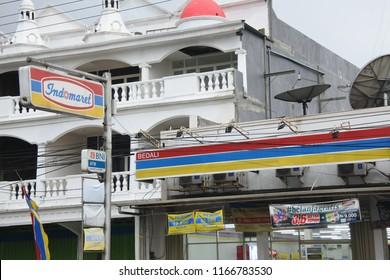 Pasuruan, Indonesia - June 20, 2018: illustrative editorial photo-Indomaret retail mart, famous mini market in Indonesia and Philippines that sells family needs, East Java