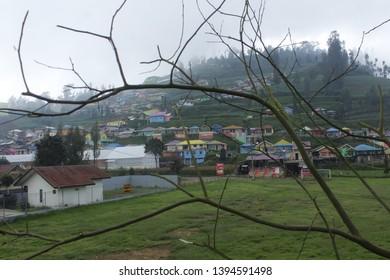 Pasuruan, May, 13 - 2018, Beautiful view at kampung kelir Tosari.
