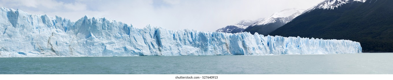 Patagonia, 23/11/2010: the front of the Upsala Glacier whose name derives by the Swedish University of Uppsala who led the first glaciological survey of the region in the twentieth century