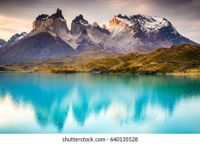 Patagonia, Chile - Torres del Paine, in the Southern Patagonian Ice Field, Magellanes Region of South America