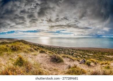 patagonia panorama landscape in valdes peninsula