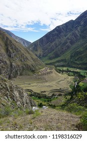 Patallacta, ancient Inca ruin at the Inca Trail to Machu Picchu (Peru)
