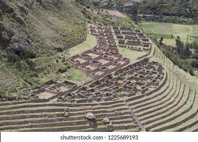 Patallacta Inca Ruins Inca Trail - Peru