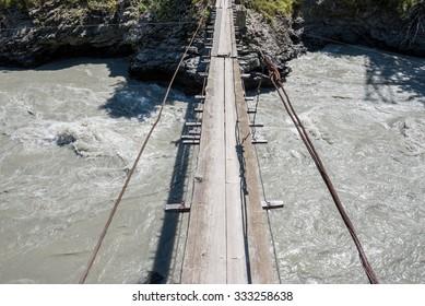 Patara Enguri River in Samegrelo-Zemo Svaneti region, Georgia