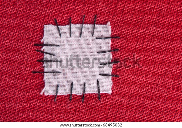 Patched cloth background - make do and mend concept