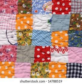 patchwork quilt baby blanket background
