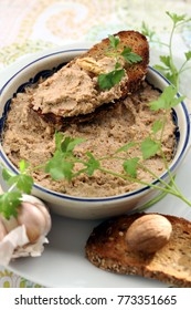 pate from boiled eggs with nuts and onions.