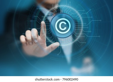 Patent Law Copyright Intellectual Property Business Internet Technology Concept.