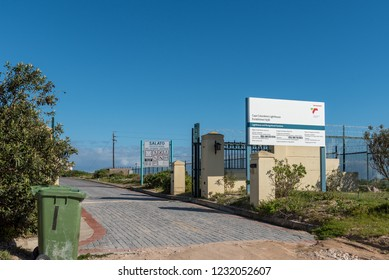 PATERNOSTER, SOUTH AFRICA, AUGUST 21, 2018: Entrance gate of the Cape Columbine Lighthouse in the Cape Columbine Nature Reserve near Paternoster