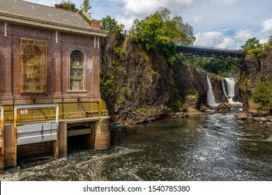 Paterson, NJ / USA - 08 31 2019: old hydro power station