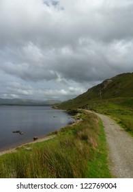 Path along Kylemore Lough in Connemara, Ireland