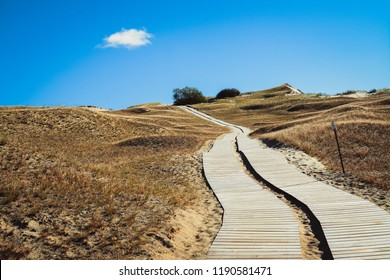 path along sandy dunes in Nida, Lithuania
