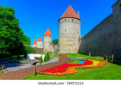 Path along Walls of Tallinn, Estonia