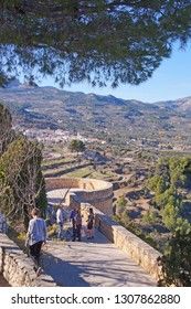 Path around Guadalest Castle and village in the province of Alicante, Spain