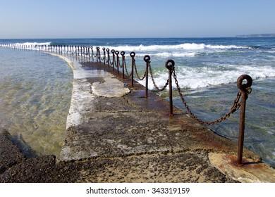 Path around Pool, Newcastle Beach, NSW, Australia