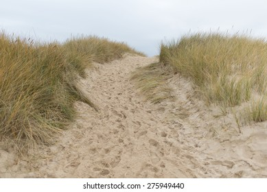 Path to the beach on Sylt in Germany