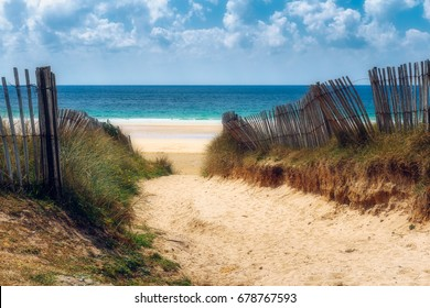 Path to the beach, Quiberon's landscape, Bretagne (Brittany), France