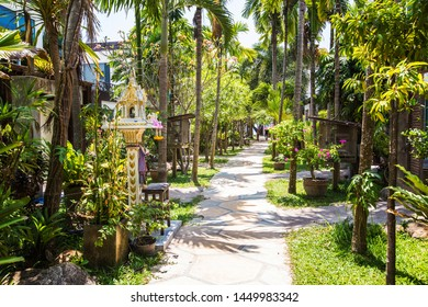 Path to the beach through the jungle in Koh Tao, Samui, Thailand