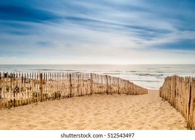 Path to beautiful beach, Lacanau, France
