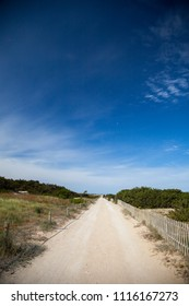 Path between dunes in a protected landscape of the Mediterranean coast