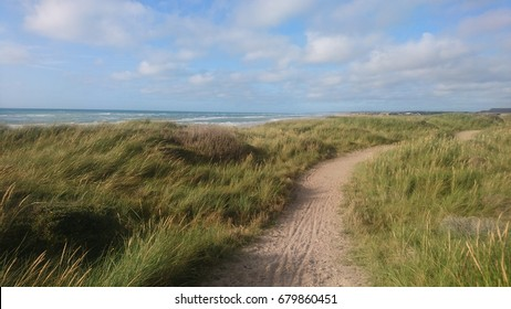 A path by the coastline in Denmark at Skallerup