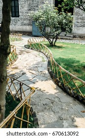 path in a Chinese garden