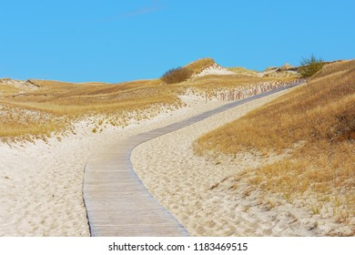 Path in Dunes on the shore of the Baltic Sea, Neringa, Lithuania