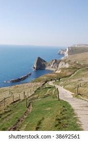 path to Durdle Door, England
