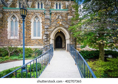 Path to the entrance of the Cathedral of the Incarnation, in Guilford, Baltimore, Maryland.