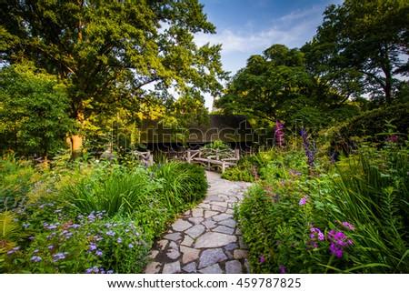 Path Flowers Shakespeare Garden Central Park Stock Photo (Edit Now ...