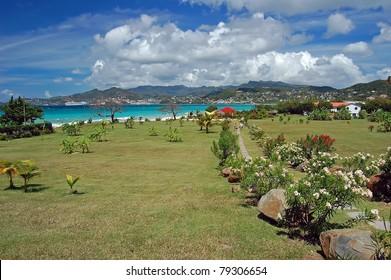 Path to Grand Anse beach on Grenada island