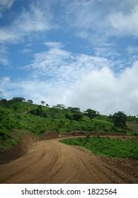 path up a hill