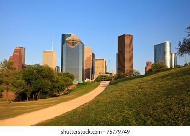 Path to the Houston Skyline