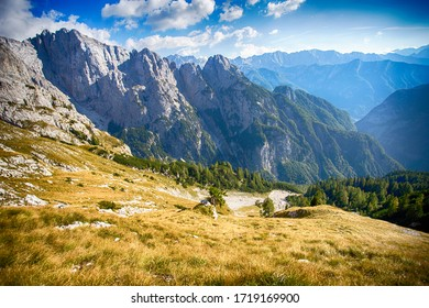 Path in Julian Alps under Prisojnik peak