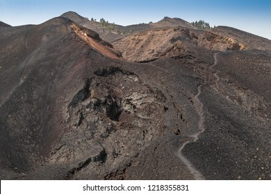 Path leading along several volcano craters
