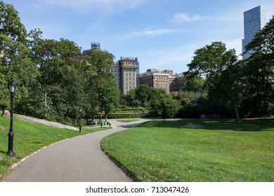 Path leading to the Central Park Conservatory Garden in New York City