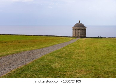 Path leading to Mussenden Temple near Castlerock in County Londonderry in Northern Ireland, United Kingdom.