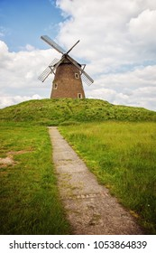 Path leading to old windmill