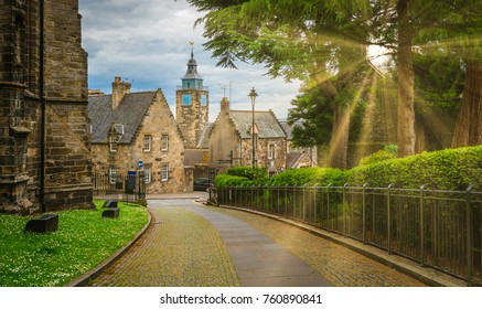 Path leading to Stirling old town, Scotland.