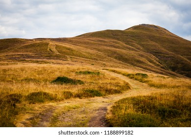 path leading up Sugarloaf Mountain in the Brecon Beacons. Wales.