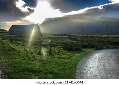 A path to Lochnagar. Ballater, Aberdeenshire, Angus, Scotland, UK. Cairngorms National Park.