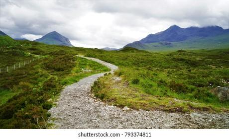 Path to the mountain, Isle of sky, Scotland