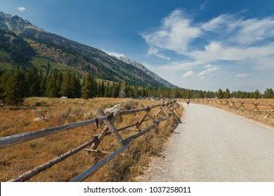 Path to Mountain with Wooden Fence