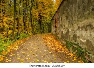 Path near the monastery fence