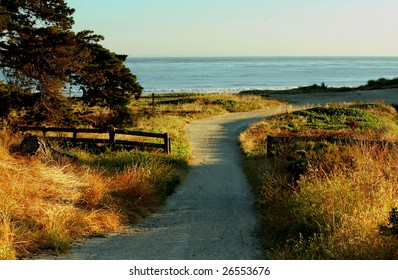 a path to the ocean