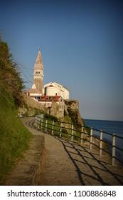 Path to the old church in Piran, Slovenia