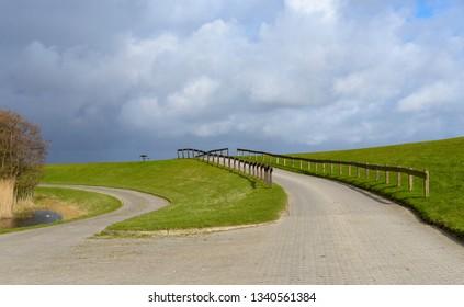 path on dike