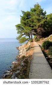 path on the island Losinj, Croatia